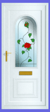 Devon Wild Rose Door