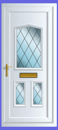 Jacobean Diamond Lead 3 Door